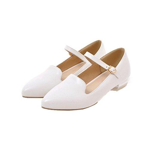Women Solid Mini Shoes Tsmdh003584 Pu Heeled Bianco Aalardom Heel SPqn7wwd