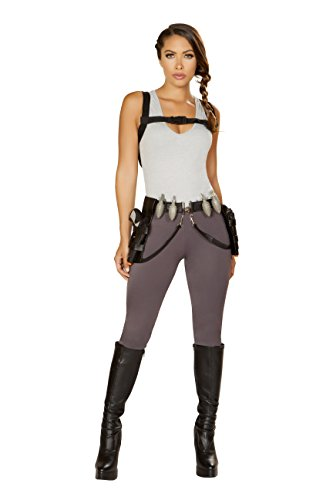 Peachi Sexy Women's Cyber Adventure Costume Inspired by Tomb Raider (M) -