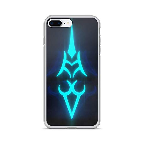 iPhone 7 Plus/8 Plus Case Anti-Scratch Gamer Video Game Transparent Cases Cover Saber Curse Crest Gaming Computer Crystal Clear