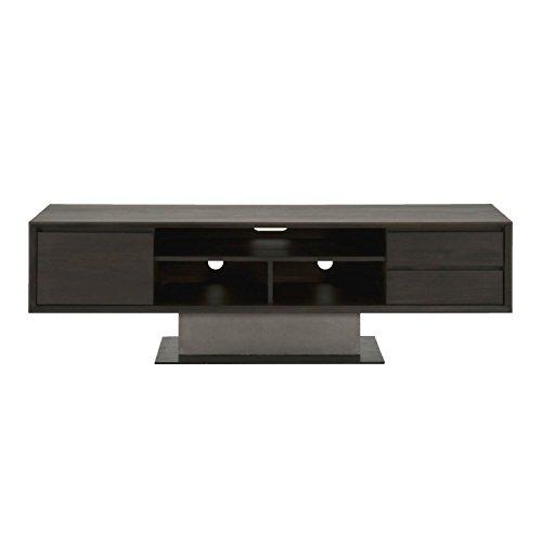 Star International Furniture 4605.SLA-GRY/ESP Cuba TV Unit, Espresso/Slate Grey Concrete/Matte Black Metal by Star International Furniture