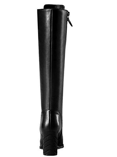high Botas mujer SevenKnee Nine negro boots qCFUYY