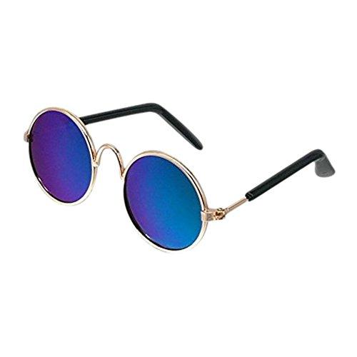 KAYI Pet Sunglasses Classic Classic Retro Circular Metal Sunglasses (Random - Different Kinds Of Sunglasses