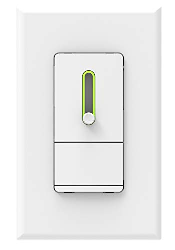 Cloudy Bay 3-Way/Single Pole Dimmer Electrical Light Switch for 150W LED/CFL 600W Incandescent/Halogen,Wall Plate Included ()