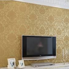 Buy 10m Wallpaper Roll Embossed Damask Design Flocked Non