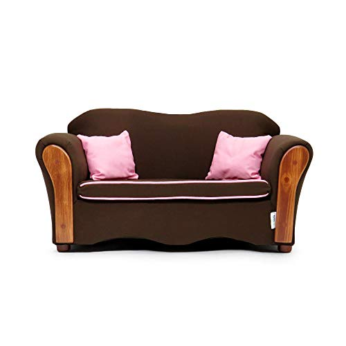 (KEET Homey VIP Organic Kid's Sofa, Sweet/Brown)