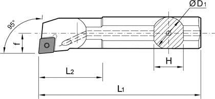 Rechts f/ür Wendeplatten CCGT//CCMT 09T3 1 St/ück ISO Stahlbohrstange Schaft /Ø 16mm S16Q-SCLCR-09-BS