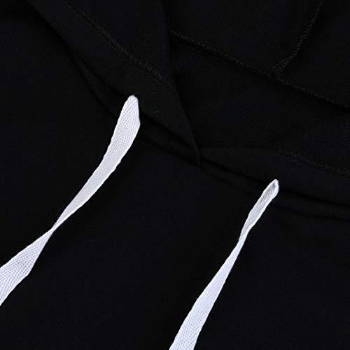 Capucha De Camisa Jersey Yesmile Negro Las Con Forman Sudadera Manga Mujeres Mujer Vestido Camisetas❤️las La Larga Del qqwt8v