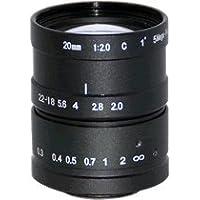 Azure Photonics AZURE-2020ML5M 1 20mm F2.0 Manual Iris C-Mount Lens, 5 Megapixel Rated