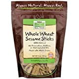 NOW Foods Real Food Whole Wheat Sesame Sticks -- 9 oz