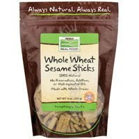 NOW Foods Real Food Whole Wheat Sesame Sticks -- 9 oz by NOW Foods