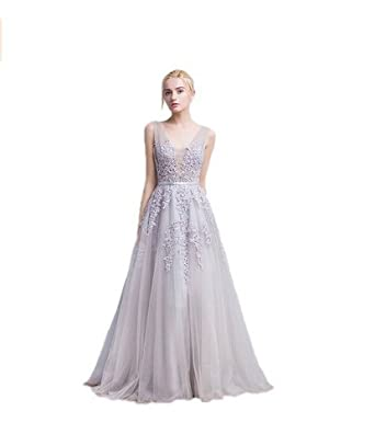 Amazon.com: Yilian Womens 2016 Elegant Long Sequined Lace Prom Dress Evening Gowns (10, ivory): Clothing