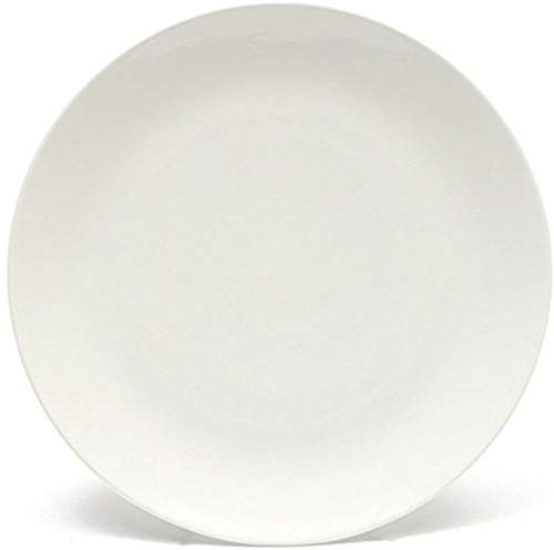 (Melange Coupe 6-Piece Porcelain Dinner Plate Set | Service for 6 | Microwave, Dishwasher & Oven Safe | Dinner Plate (6 Pieces) | Color: White )