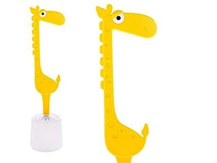 OOTB Giraffe - Escobilla de Inodoro (12 x 12 x 40 cm), Color Amarillo Out of the blue KG 71/4002