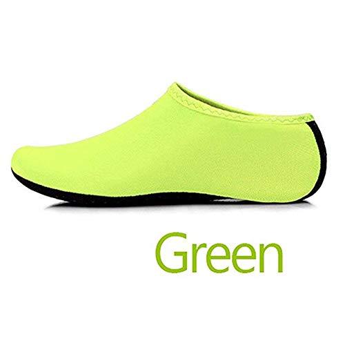 GEFANENR Zapatos De Buceo,Calcetines De Buceo Unisex Calzado Deportivo Verde Descalzo Calcetines Calcetines, Snorkel…