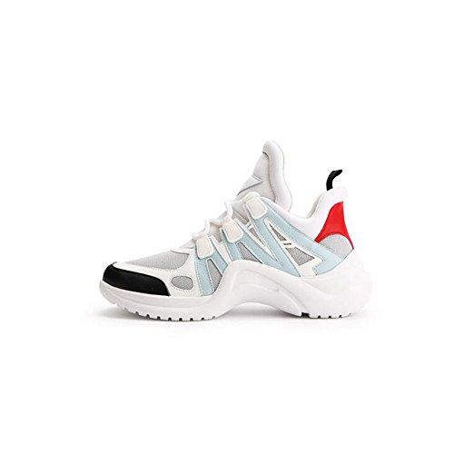 Zapatos tamaño Zapatillas Casuales Otoño Mujeres 3 Zapatos Las Color de Zapatos Malla de Deportivos Primavera de Deportivos Verano Gruesa Deporte 40 4 2018 R4xrPYqRw