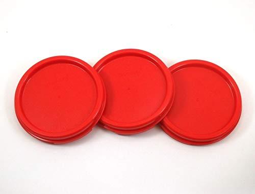 Set of 3 Tupperware Red Modular Mates Round Replacement Seals #1607