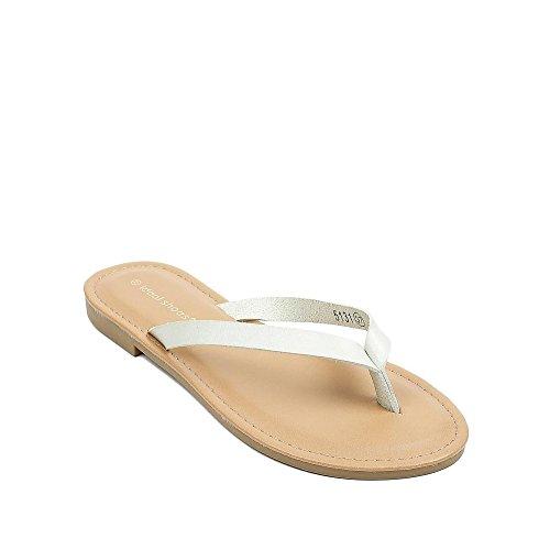 Ideal Shoes, Damen Zehentrenner , grün - grün - Größe: 36 EU