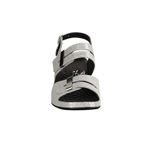 Vital 0506-1804- Damenschuhe Sandalette / Sling, Grau, leder, absatzhöhe: 50 mm