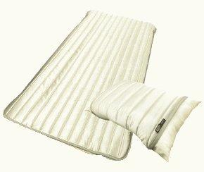 アウトラスト 敷きパッド 枕パッド セット セミダブル SPAスポーツ 金 銀 涼感 (メタリックシルバー) B00KGSNIUU メタリックシルバー