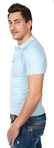 Alpha by Massimo Rebecchi Herren Polo Shirt PIACENZA 10041404-Hellblau, Groesse Eur:46