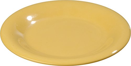 Carlisle 3302022 Sierrus Bread Butter Plate - Wide Rim 5-1/2'' - Honey Yellow (48 PER CASE) Carlisle Honey