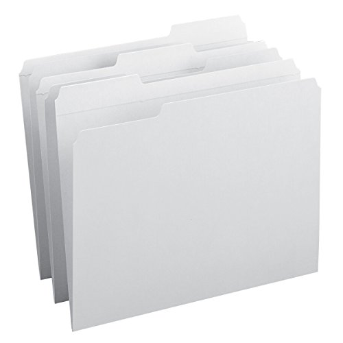 Smead File Folder, Reinforced 1/3-Cut Tab, Letter Size, White, 100 per Box - Tab Box White