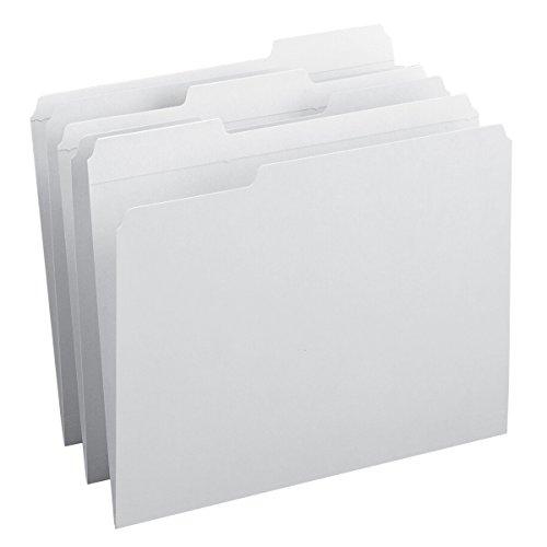 Smead File Folder, Reinforced 1/3-Cut Tab, Letter Size, White, 100 per Box - White Tab Box