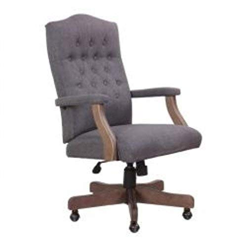 Boss Office Products B905DW-SG Executive Commercial Swivel Chair, Slate Grey