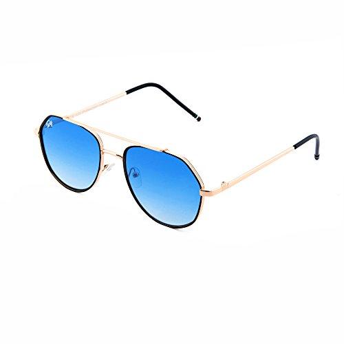 TWIG Gafas de espejo Bronce aviador Transparente sol mujer hombre Azul TOLSTOJ qwFEC