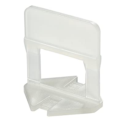 Tile leveling clips, Joint 1,5 mm, tile 1/8 up to 1/2 in. thick, Bag of 300 pcs, best Pro-level