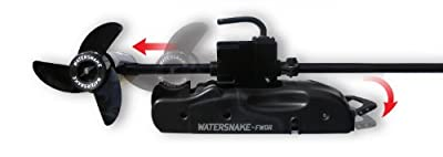 Watersnake FWDR54-48 Shadow Bow Mount Foot Control Motor (Black, 48-inch)