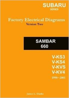 subaru sambar english factory electrical diagrams: james danko: amazon com:  books