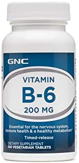 GNC Vitamin B6 200 MG 100 Vegetarian Tablets