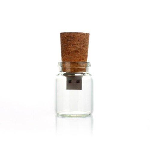 FEBNISCTE Cute Lovely Drift Bottle with Cork USB Flash Pen Drives Memory Stick U Disk (16GB)