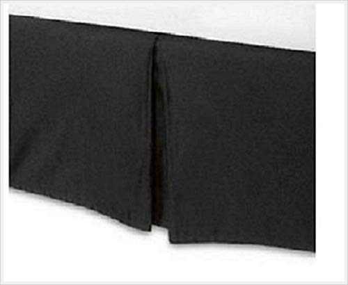 "Bedroom Fashions 16"" Black Twin Daybed Tailored Bed Skirt Dust Ruffle Split Corners Made in USA (16"", Black)"