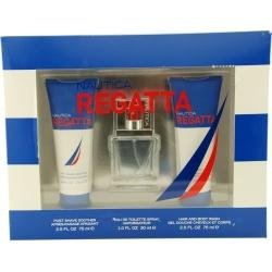 NAUTICA REGATTA by Nautica Gift Set for MEN: EDT SPRAY 1 OZ & POST SHAVE SOOTHER 2.5 OZ & HAIR & BODY WASH 2.5 OZ from Nautica