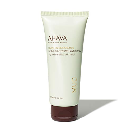 AHAVA Leave On Dead Sea Mud Intensive Hand Cream 100 ml (Best Hand Cream For Dry Hands 2019)