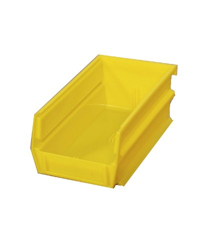 Triton Products 3-210Y LocBin Stacking, Hanging, Interlocking Polypropylene Bins 5-3/8-Inch L by 4-1/8-Inch W by 3-Inch H Yellow 24 CT