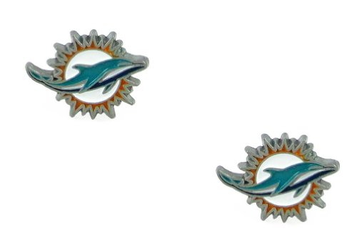 (Miami Dolphins Stud Earrings - New Logo)