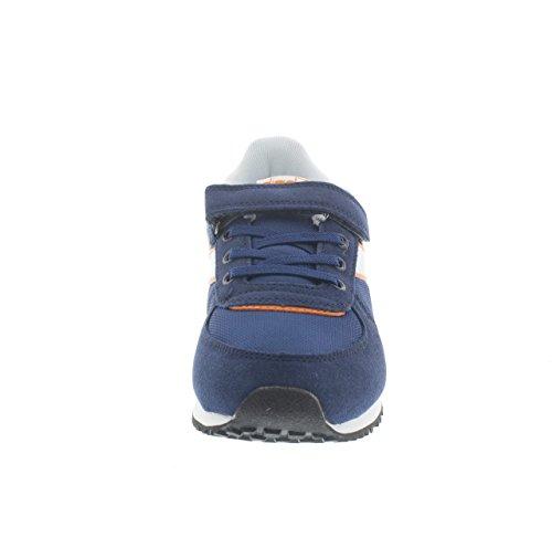Diadora - Zapatillas de Material Sintético para niño Blu/arancio
