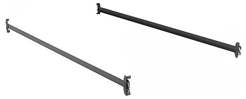 Hook-On Bed Rails for Twin XL, Full XL, and Queen Size - Wood Rail Side