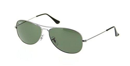 2 Gunmetal Aviator Ban Items Sunglasses Rb3362 Cockpit Ray Polarized Green Bundle crystal xTqF8tw