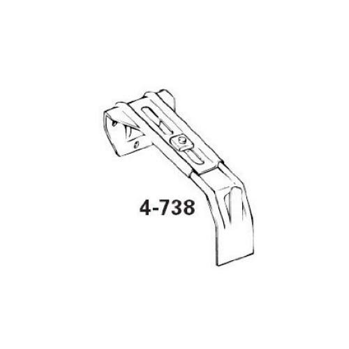 Graber Dauphine Curtain Rod Center Support Bracket (Fits 2 1/2 or 4 1/2-Inch Wide Dauphine Rod) AX-AY-ABHI-54221