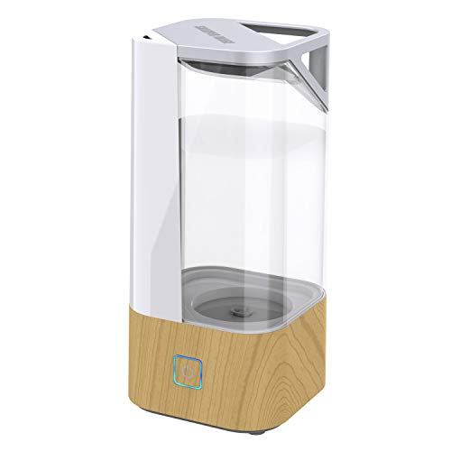 (Sharper Image UHS1-SI Ultrasonic Cool Mist Humidifier, 1 Gallon (3.8L), 2 Settings, Auto Shut-Off, Illuminated Touch Control, Low Water Indicator, Easy Fill and Clean Tank, Ash Woodgrain)