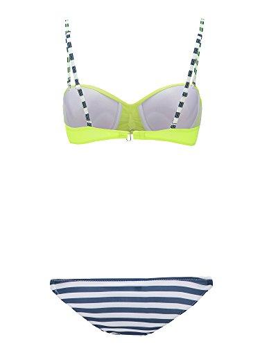Push Bagno Triangolo Donne Striscia Multicolore di Punti da Giallo Up Bikini Costume WanYang Beachwear Sexy a FYTqT