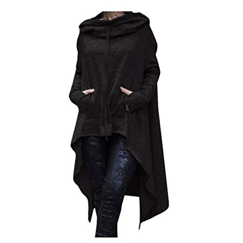 Price comparison product image Irregular Hood Sweatshirt for Women Casual Pullover Blouse Hooded Ladies Long Tops