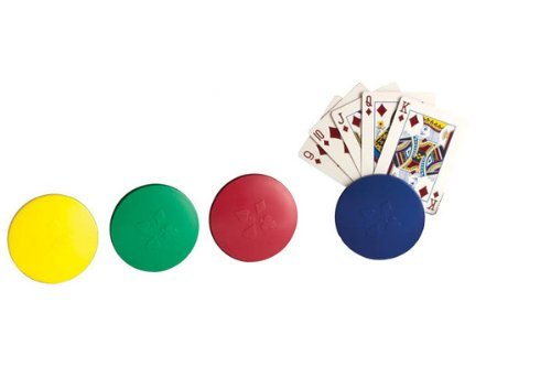 (Deluxe Round Playing Card Holders #2728 - Includes 4 Card Holders in Black Container)