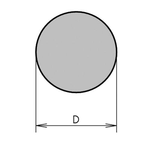 Thomafluid Moosgummi-Rundschnur aus Silikon, Außen-Ø: 14 mm, 10 m