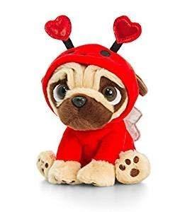Amazoncom Pugsley Soft Toy Cute Pug Plush Keel Toys 8 Ladybug
