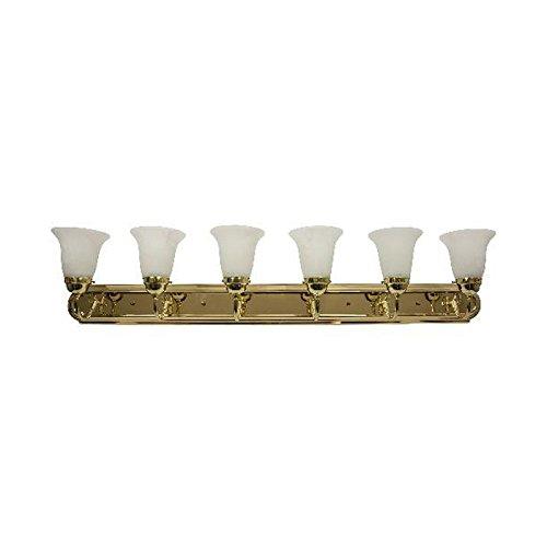 Sunlite 45465-SU B648D/PB/AL 48-Inch Vanity Decorative Sconce Fixture, Polished Brass Finish, Alabaster Glass